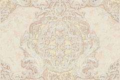 34372-3 cikkszámú tapéta.Barokk-klasszikus,különleges felületű,különleges motívumos,metál-fényes,fehér,vajszín,súrolható,vlies tapéta