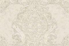 34372-6 cikkszámú tapéta.Barokk-klasszikus,különleges felületű,különleges motívumos,metál-fényes,fehér,vajszín,súrolható,vlies tapéta