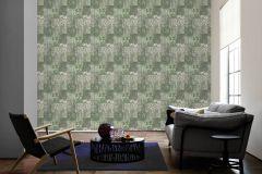 34374-1 cikkszámú tapéta.Csíkos,különleges felületű,különleges motívumos,metál-fényes,rajzolt,retro,ezüst,vajszín,zöld,súrolható,vlies tapéta