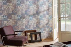 34374-3 cikkszámú tapéta.Absztrakt,csíkos,különleges felületű,különleges motívumos,metál-fényes,retro,bronz,kék,narancs-terrakotta,vajszín,súrolható,vlies tapéta