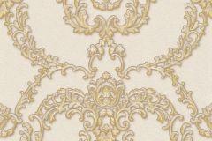 34777-1 cikkszámú tapéta.Barokk-klasszikus,különleges felületű,különleges motívumos,metál-fényes,arany,bézs-drapp,vajszín,súrolható,vlies tapéta