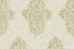 35110-2 cikkszámú tapéta.Barokk-klasszikus,különleges felületű,metál-fényes,arany,zöld,súrolható,vlies tapéta