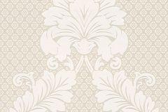 30544-1 cikkszámú tapéta.Barokk-klasszikus,különleges felületű,metál-fényes,velúr felületű,bézs-drapp,fehér,gyöngyház,vlies tapéta