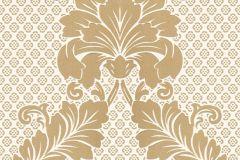 30544-2 cikkszámú tapéta.Barokk-klasszikus,különleges felületű,metál-fényes,velúr felületű,arany,barna,fehér,gyöngyház,vlies tapéta