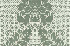 30544-3 cikkszámú tapéta.Barokk-klasszikus,különleges felületű,metál-fényes,velúr felületű,zöld,vlies tapéta