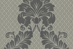 30544-4 cikkszámú tapéta.Barokk-klasszikus,különleges felületű,metál-fényes,velúr felületű,szürke,vlies tapéta