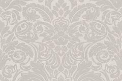 30545-1 cikkszámú tapéta.Barokk-klasszikus,gyöngyös,különleges felületű,metál-fényes,ezüst,gyöngyház,szürke,vlies tapéta