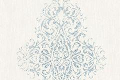 31945-1 cikkszámú tapéta.Barokk-klasszikus,textilmintás,valódi textil,ezüst,fehér,gyengén mosható,vlies tapéta