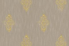 31946-3 cikkszámú tapéta.Barokk-klasszikus,valódi textil,arany,barna,gyengén mosható,vlies tapéta