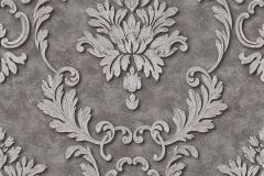 32422-5 cikkszámú tapéta.Barokk-klasszikus,fémhatású - indusztriális,különleges felületű,barna,ezüst,szürke,súrolható,vlies tapéta