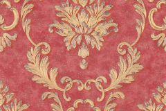 32422-6 cikkszámú tapéta.Barokk-klasszikus,fémhatású - indusztriális,különleges felületű,arany,piros-bordó,súrolható,vlies tapéta