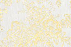 30657-1 cikkszámú tapéta.Barokk-klasszikus,csillámos,különleges felületű,különleges motívumos,valódi textil,virágmintás,arany,ezüst,szürke,vlies tapéta