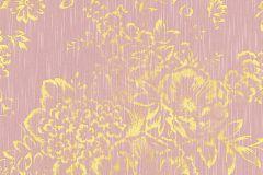 30657-5 cikkszámú tapéta.Barokk-klasszikus,csillámos,különleges felületű,különleges motívumos,rajzolt,valódi textil,virágmintás,arany,pink-rózsaszín,vlies tapéta