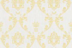 30658-1 cikkszámú tapéta.Barokk-klasszikus,csillámos,különleges felületű,különleges motívumos,valódi textil,arany,ezüst,szürke,vlies tapéta