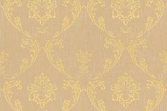 30658-4 cikkszámú tapéta.Barokk-klasszikus,csillámos,különleges felületű,különleges motívumos,valódi textil,arany,narancs-terrakotta,vlies tapéta