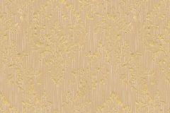 30659-4 cikkszámú tapéta.Barokk-klasszikus,csillámos,különleges felületű,különleges motívumos,valódi textil,arany,narancs-terrakotta,vlies tapéta