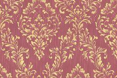 30659-6 cikkszámú tapéta.Barokk-klasszikus,csillámos,különleges felületű,különleges motívumos,valódi textil,arany,piros-bordó,vlies tapéta