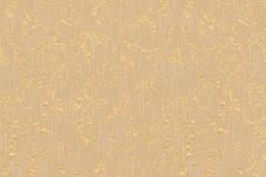 30660-3 cikkszámú tapéta.Barokk-klasszikus,csillámos,különleges felületű,különleges motívumos,valódi textil,arany,narancs-terrakotta,vlies tapéta