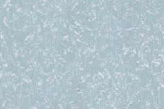 30660-5 cikkszámú tapéta.Barokk-klasszikus,csillámos,különleges felületű,különleges motívumos,valódi textil,ezüst,kék,vlies tapéta