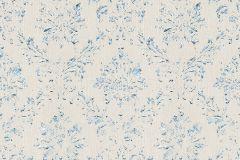30662-2 cikkszámú tapéta.Barokk-klasszikus,csillámos,különleges felületű,különleges motívumos,valódi textil,bézs-drapp,ezüst,kék,vlies tapéta