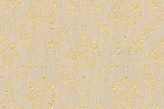 30662-4 cikkszámú tapéta.Barokk-klasszikus,csillámos,különleges felületű,különleges motívumos,valódi textil,arany,bézs-drapp,vlies tapéta
