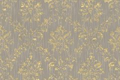 30662-5 cikkszámú tapéta.Barokk-klasszikus,csillámos,különleges felületű,különleges motívumos,valódi textil,arany,szürke,vlies tapéta