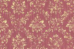 30662-6 cikkszámú tapéta.Barokk-klasszikus,csillámos,különleges felületű,különleges motívumos,valódi textil,arany,piros-bordó,vlies tapéta