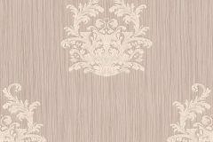 95861-3 cikkszámú tapéta.Barokk-klasszikus,csíkos,különleges felületű,különleges motívumos,textilmintás,barna,bézs-drapp,vajszínű,súrolható,vlies tapéta