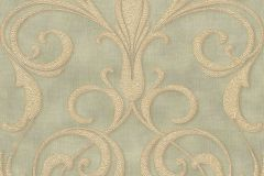 95892-4 cikkszámú tapéta.Barokk-klasszikus,különleges felületű,különleges motívumos,arany,bézs-drapp,zöld,súrolható,vlies tapéta