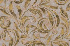 95940-5 cikkszámú tapéta.Barokk-klasszikus,különleges felületű,természeti mintás,arany,barna,piros-bordó,szürke,zöld,vlies tapéta