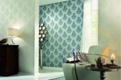 95981-6 cikkszámú tapéta.Barokk-klasszikus,csillámos,különleges felületű,különleges motívumos,metál-fényes,kék,szürke,súrolható,vlies tapéta