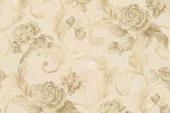 95983-1 cikkszámú tapéta.Barokk-klasszikus,különleges felületű,metál-fényes,rajzolt,virágmintás,bézs-drapp,bronz,vajszín,súrolható,vlies tapéta