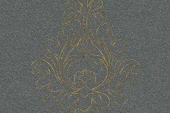 96982-4 cikkszámú tapéta.Barokk-klasszikus,csillámos,különleges motívumos,metál-fényes,arany,szürke,súrolható,illesztés mentes,vlies tapéta