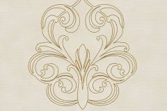 96983-3 cikkszámú tapéta.Barokk-klasszikus,különleges felületű,különleges motívumos,metál-fényes,arany,vajszín,súrolható,illesztés mentes,vlies tapéta