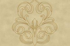 96983-5 cikkszámú tapéta.Barokk-klasszikus,különleges felületű,különleges motívumos,metál-fényes,arany,barna,vajszín,súrolható,illesztés mentes,vlies tapéta