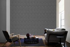 96195-7 cikkszámú tapéta.Barokk-klasszikus,valódi textil,fekete,szürke,gyengén mosható,vlies tapéta