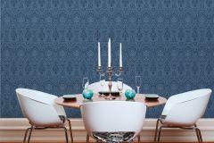 96195-8 cikkszámú tapéta.Barokk-klasszikus,valódi textil,kék,gyengén mosható,vlies tapéta