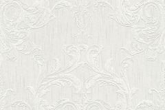 96196-1 cikkszámú tapéta.Barokk-klasszikus,valódi textil,fehér,szürke,gyengén mosható,vlies tapéta