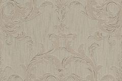 96196-3 cikkszámú tapéta.Barokk-klasszikus,valódi textil,barna,szürke,gyengén mosható,vlies tapéta