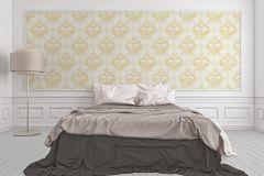 96196-5 cikkszámú tapéta.Barokk-klasszikus,valódi textil,arany,bézs-drapp,fehér,gyengén mosható,vlies tapéta