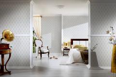 96197-1 cikkszámú tapéta.Barokk-klasszikus,valódi textil,bézs-drapp,fehér,szürke,gyengén mosható,vlies tapéta