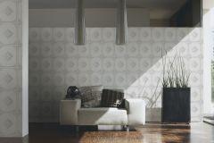 96199-1 cikkszámú tapéta.Barokk-klasszikus,valódi textil,fehér,szürke,gyengén mosható,vlies tapéta