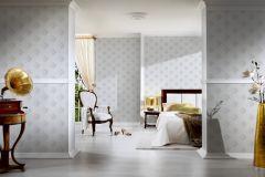 96200-1 cikkszámú tapéta.Barokk-klasszikus,valódi textil,fehér,szürke,gyengén mosható,vlies tapéta