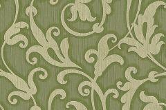 95490-4 cikkszámú tapéta.Különleges motívumos,természeti mintás,valódi textil,virágmintás,zöld,gyengén mosható,vlies tapéta