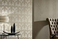 95628-1 cikkszámú tapéta.Különleges motívumos,természeti mintás,valódi textil,virágmintás,barna,bézs-drapp,gyengén mosható,vlies tapéta