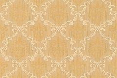 95629-3 cikkszámú tapéta.Barokk-klasszikus,különleges motívumos,természeti mintás,valódi textil,virágmintás,arany,narancs-terrakotta,gyengén mosható,vlies tapéta