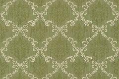 95629-4 cikkszámú tapéta.Barokk-klasszikus,különleges motívumos,természeti mintás,valódi textil,virágmintás,vajszín,zöld,gyengén mosható,vlies tapéta