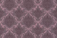 95629-5 cikkszámú tapéta.Barokk-klasszikus,különleges motívumos,természeti mintás,valódi textil,virágmintás,pink-rózsaszín,gyengén mosható,vlies tapéta