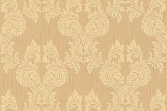 95630-3 cikkszámú tapéta.Barokk-klasszikus,különleges motívumos,természeti mintás,valódi textil,virágmintás,barna,bézs-drapp,vajszín,gyengén mosható,vlies tapéta
