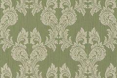 95630-4 cikkszámú tapéta.Barokk-klasszikus,különleges motívumos,valódi textil,gyöngyház,zöld,gyengén mosható,vlies tapéta